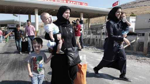 Refugiados sírios (Foto AP)