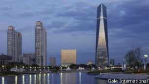 Panorámica de los rascacielos de Songo, ciudad tecnológica a las afueras de Seúl