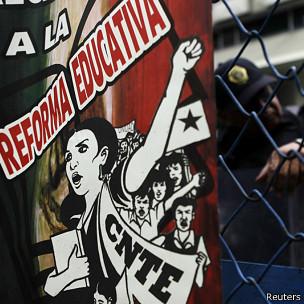 Manifestación de maestros en México