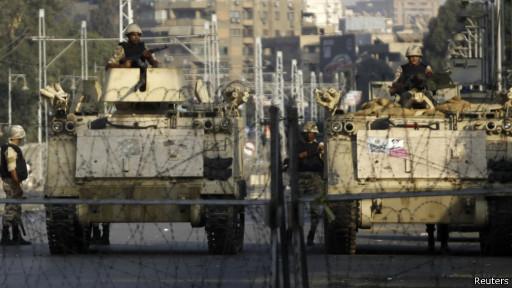 Tanques del ejército egipcio
