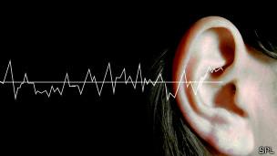 Onda de sonido llegando a un oído