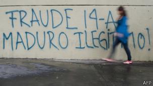 Pintada en Caracas.