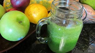 Jugo de vegetales y frutas