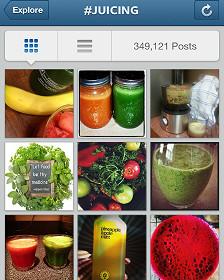 Juicing en Instagram