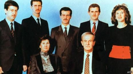 La familia al Asad