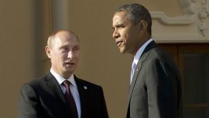Vladimir Putin, presidente de Rusia y Barack Obama, presidente de EE.UU.
