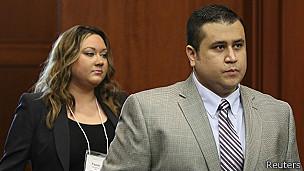Zimmerman y su esposa