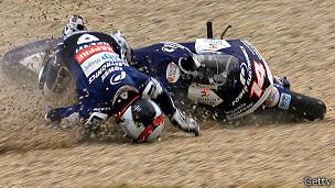 Accidente de moto en el Mundial de Motociclismo