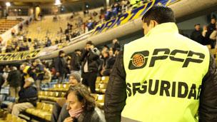 Seguridad en un estadio de fútbol de Buenos Aires
