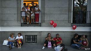 madrileños frustrados con el COI