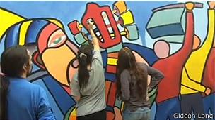 Muralistas en Santiago de Chile