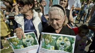 Protesto em Bucareste (AP)