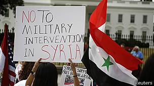 Protesta contra la guerra frente a la Casa Blanca