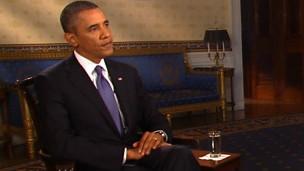 O presidente americano Barack Obama em entrevista na TV