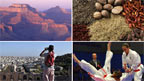 A canyon, spices, a tourist, and karate