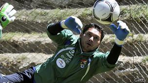 Daniel Vaca, portero de la selección de Bolivia