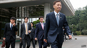 Delegación surcoreana se dirige a Kaesong