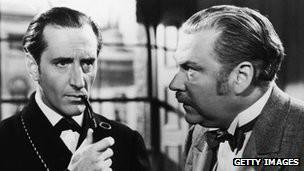 Holmes y Watson en una escena de La Aventura de la Caja de Cartón