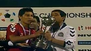 جام قهرمانی مسابقات جنوب آسیا در دستان کاپیتان امیری