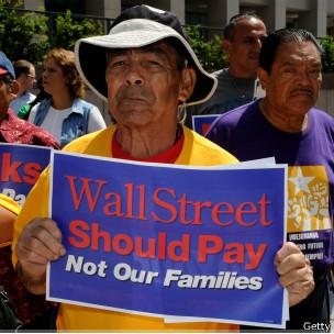 Protesta por crisis financiera