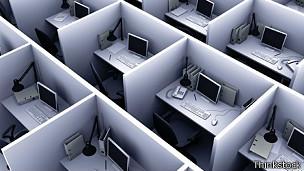 Oficina con cubículos