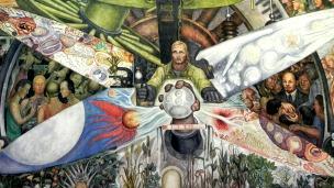 Mural Hombre en el Cruce de Caminos, Diego Rivera, sindicable sólo una vez