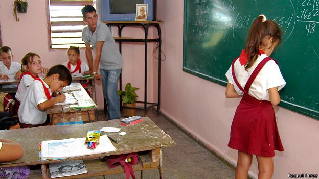 Salón de clases cubano (Foto: Raquel Pérez)