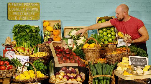 collage fotográfico de alimentos