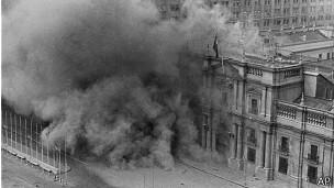 Bombarceo a La Moneda en 1973