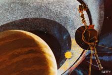 Voyager 1 passing Saturn