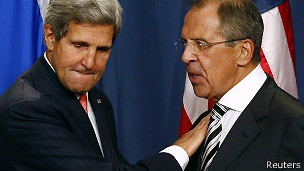 John Kerry e Sergei Lavrov (Foto: Reuters)