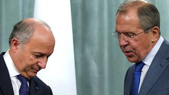 Cancilleres de Rusia y Francia