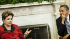 Dilme Rousseff junto a Barack Obama