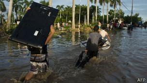 Enchente em Acapulco