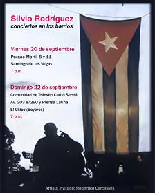 Cartel de un concierto de Silvio Rodríguez (Foto: Raquel Pérez)
