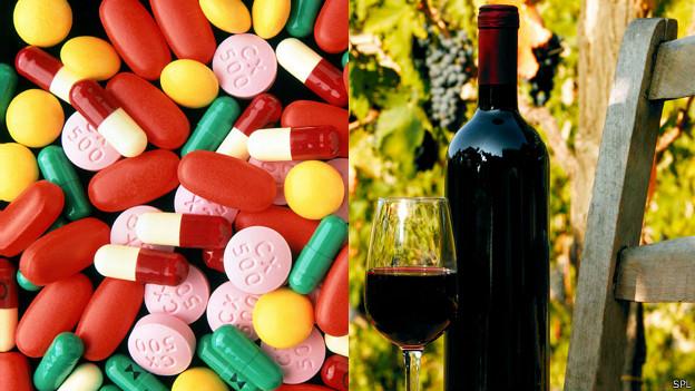 Antibióticos y vino