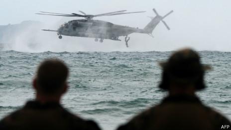 美國和菲律賓士兵在南中國海演習(20/09/2013)