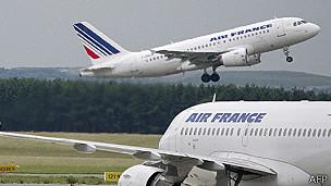 Aviones de Air France, foto de archivo