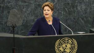 Dilma Rousseff, presidente do Brasil, discursa na ONU | Crédito: Getty