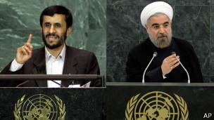 Ahmadineyad y Rohani