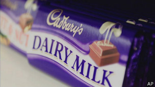 Barra de chocolate Dairy Milk, de Cadbury