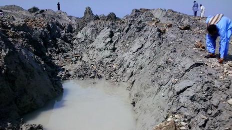 Nueva isla frente a Gwadar, Pakistán