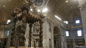Interior de la Basílica de San Pedro