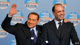 Анджелино Альфано и Берлускони
