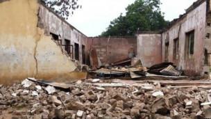 Colegio destruido en Nigeria