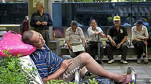 Ancianos en Taiwán
