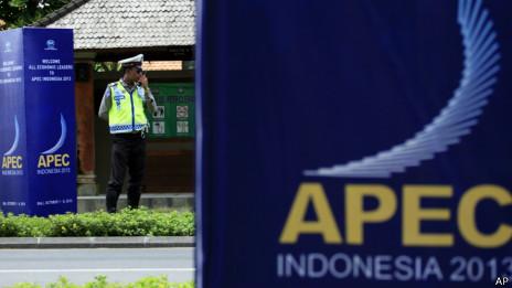 本届亚太经合峰会将在巴厘岛努沙杜瓦度假区举行(02/10/2013)