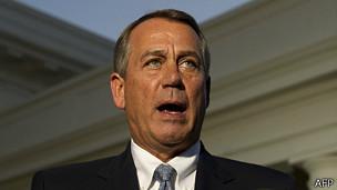 John Boehner, presidente de la Cámara de Representantes