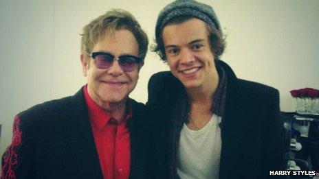 Elton John y Harry Styles