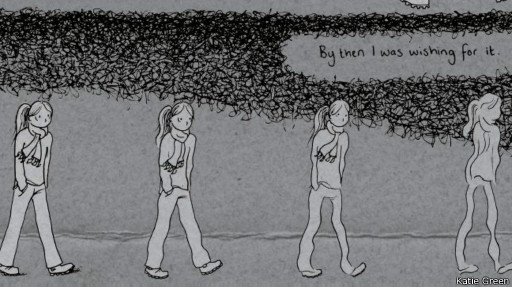 Página da história em quadrinhos de Katie Green | Jonathan Cape